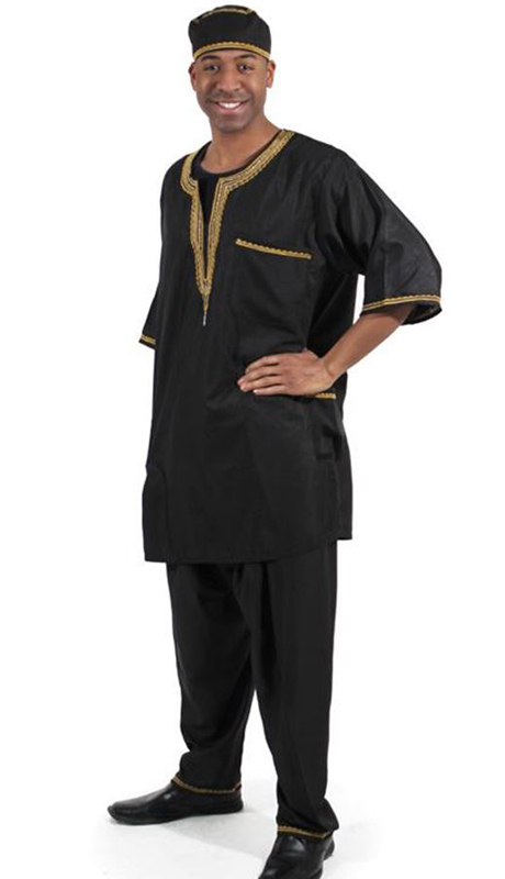 Heritage C-MO51-BK ( 2pc Mens Luxury Pant Set With Kufi Hat )