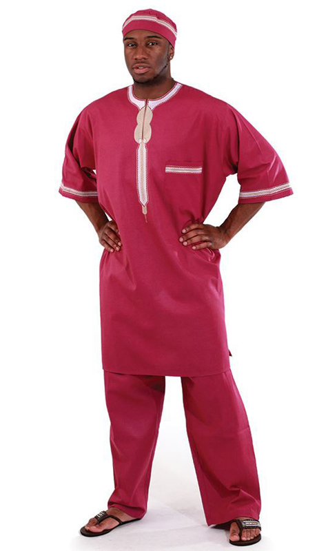 Heritage C-M083-FU ( 2pc Mens Luxury Pant Set With Kufi Hat )