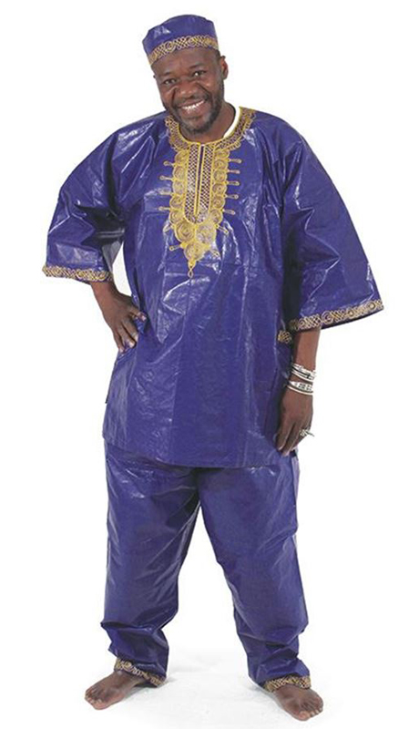Heritage C-M450-RO ( Gold Emboidered Brocade Pant Set With Matching Hat )