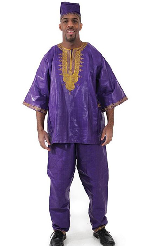 Heritage C-M450-PU ( Gold Emboidered Brocade Pant Set With Matching Hat )