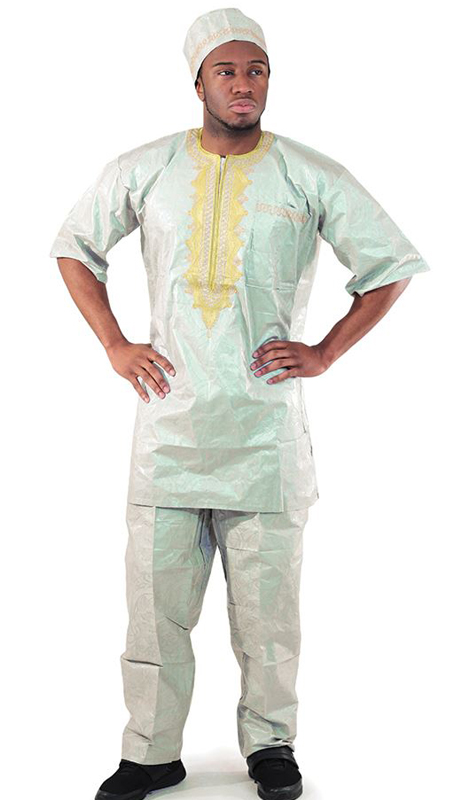Heritage C-M450-MI ( Gold Emboidered Brocade Pant Set With Matching Hat )