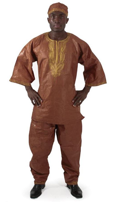 Heritage C-M450-BR ( Gold Emboidered Brocade Pant Set With Matching Hat )