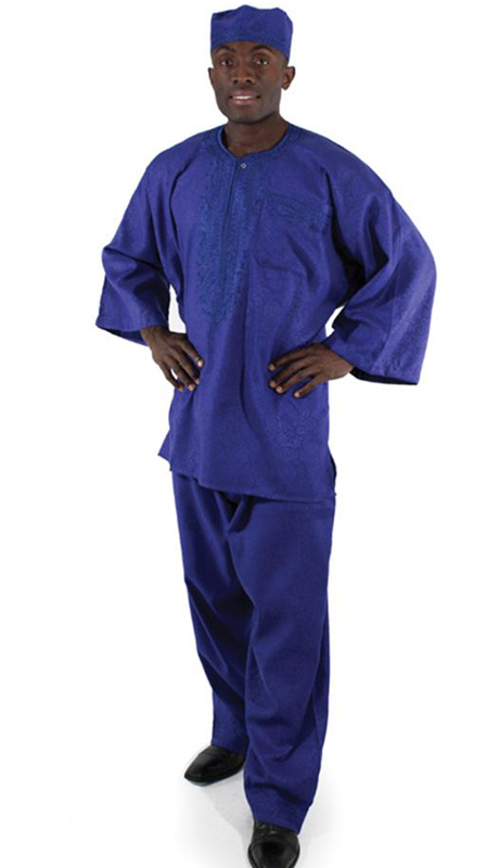 Heritage C-MO69-BL ( 2pc Mens Luxury Pant Set With Kufi Hat )