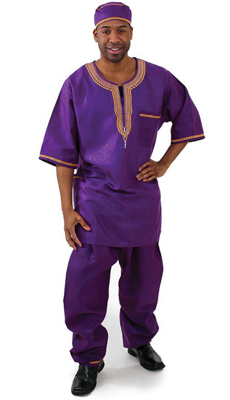 Heritage C-MO51-PU ( 2pc Mens Luxury Pant Set With Kufi Hat )