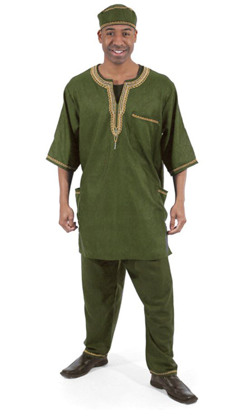 Heritage C-MO51-OL ( 2pc Mens Luxury Pant Set With Kufi Hat )