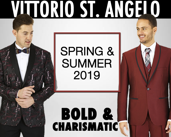 High-End Mens Fashion By  Vittorio St Angelo Church Suits 2019