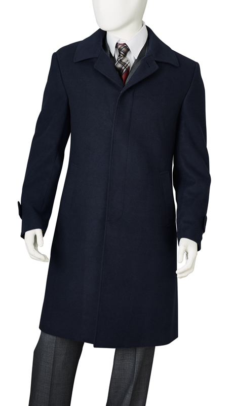 COAT61-NA ( Classic Fit Coat Single Breasted Hidden Buttons Under Placket Center Vent Super 100, Vittorio St.Angelo Mens Suit )