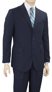 YS82-NA ( 2pc Tuxedo 2-Button, Single-Breasted Jacket With Peak Lapels, Center Vent Flat-Front Pants, Vittorio St.Angelo Mens Suit)