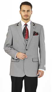 F62HV-BLK ( 3-Piece Classic Fit Suit 2-Button, Single-breasted Jacket with side-vents and Vest Flat front pants )