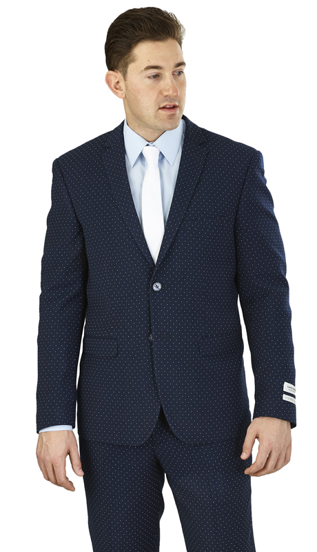S62DT-N ( 2pc Suit 2-Button, Single-breasted Jacket with side vents Flat front Pants )