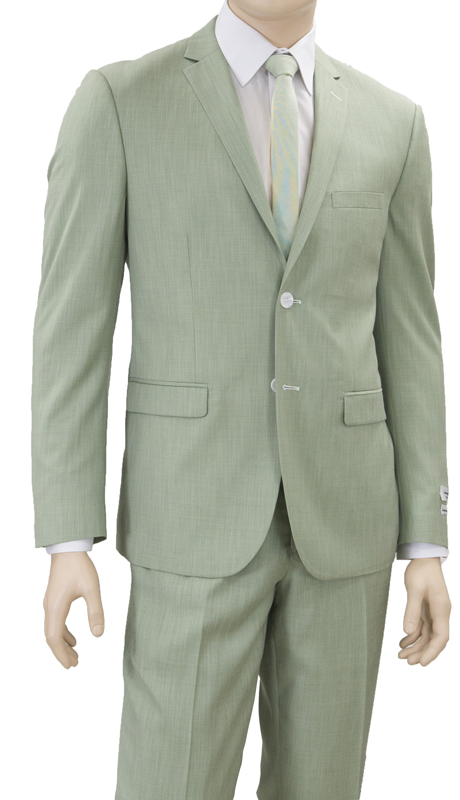 S62DM-MI ( 2-Piece Suit 2-Button, Single-breasted Jacket with side vents Flat front Pants )