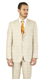 MC62CB-WH ( 2-Piece Suit 2-Button, Single-breasted Jacket with patch pockets and side vents Flat front Pants )