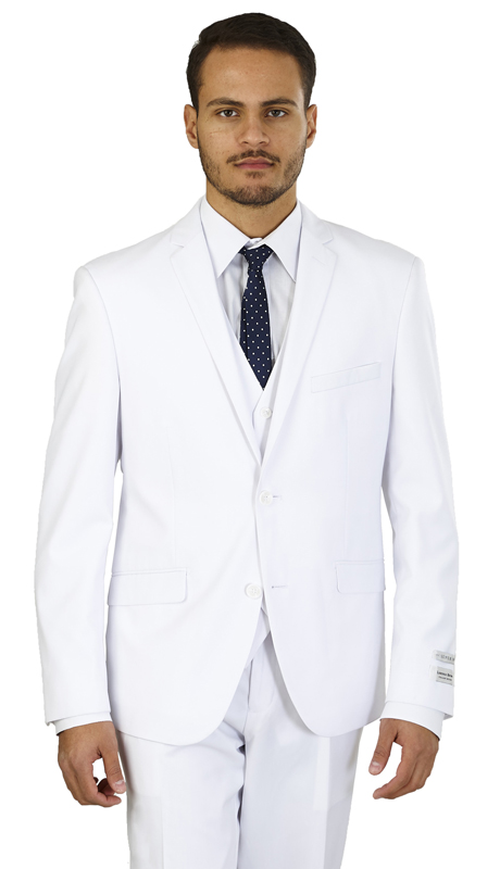 TS62KR-W ( 2-Button, Single-breasted Jacket with side vents and Vest Flat front Pants )