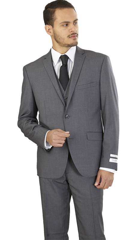 TS62KR-GR ( 2-Button, Single-breasted Jacket with side vents and Vest Flat front Pants )