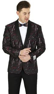 SZ626-BP ( Blazer Single-button Jacket, Single-breasted, shawl lapels Side vents )
