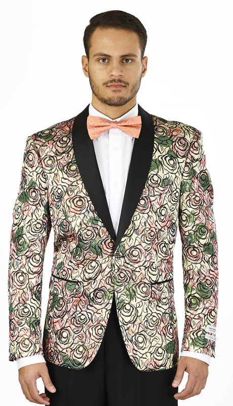 SZ625-BP ( Blazer Single-button Jacket, Single-breasted, shawl lapels Side vents )