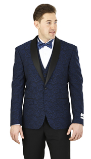 YS62P-N ( 2-Piece Tuxedo 2-Button, Single-breasted Jacket with peak collar, side vents Flat front Pants )