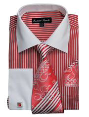 FL631-RE ( Matching Tie, Cuff Link And Hanky Included )