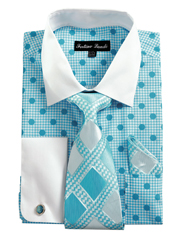 FL632-TUR ( Matching Tie, Cuff Link And Hanky Included )