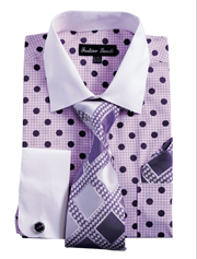 FL632-PUR ( Matching Tie, Cuff Link And Hanky Included )