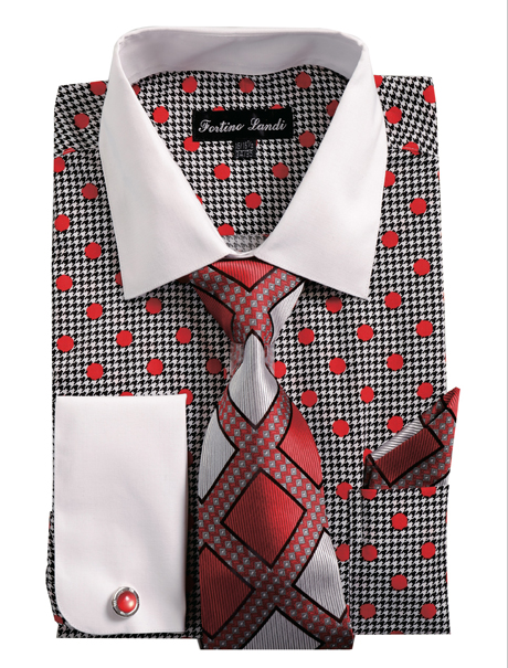 FL632-RE ( Matching Tie, Cuff Link And Hanky Included )