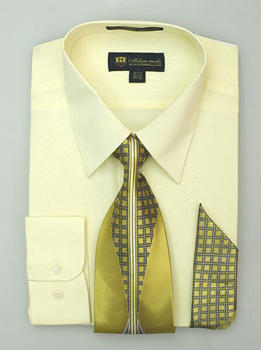 SG-21Canary-G ( Matching Tie And Hanky Included )