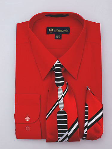 SG-21Red-G ( Matching Tie And Hanky Included )