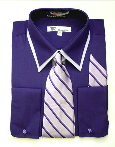 SG14Purple-G ( Matching Tie, Cuff Link And Hanky Included )