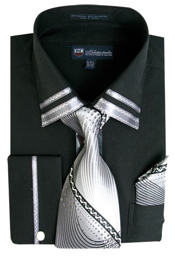 SG-28BK ( Matching Tie, Cuff Link And Hanky Included )
