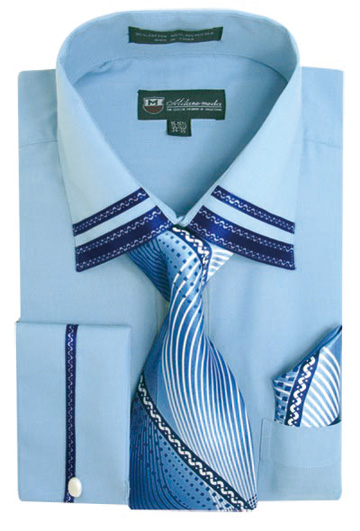 SG-28BLUE ( Matching Tie, Cuff Link And Hanky Included )