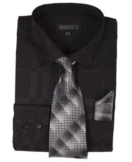 AH623-BK ( Matching Tie And Hanky Included )