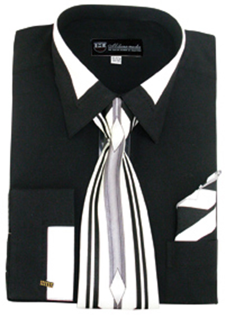 SG34-BL ( Matching Tie, Cuff Link And Hanky Included )