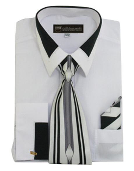 SG34-WH ( Matching Tie, Cuff Link And Hanky Included )