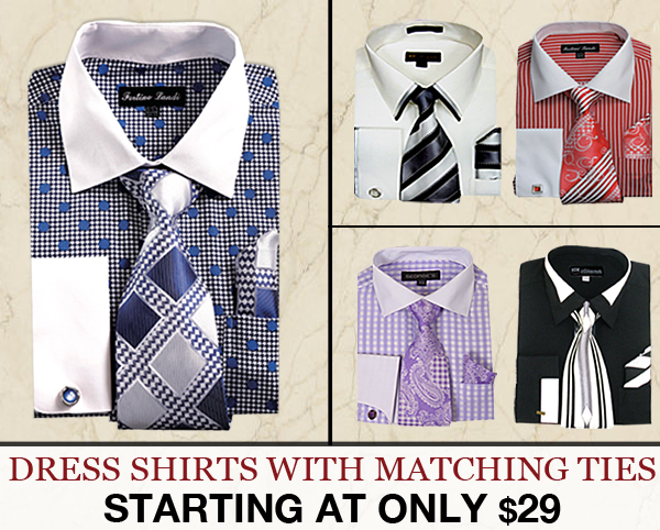 Designer Dress Shirts With Ties Complete Collection 2018