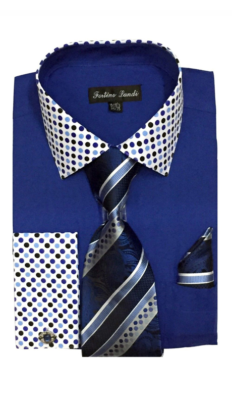 FL630-RB ( Matching Tie, Cuff Link And Hanky Included )