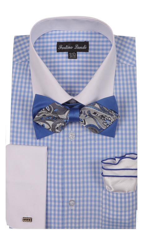 FL628-BL ( Matching Bow Tie, Cuff Link And Hanky Included )