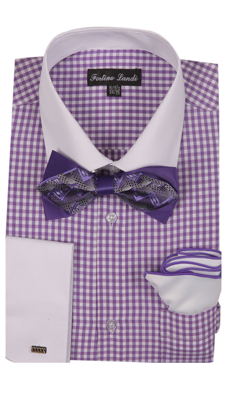 FL628-LA ( Matching Bow Tie, Cuff Link And Hanky Included )