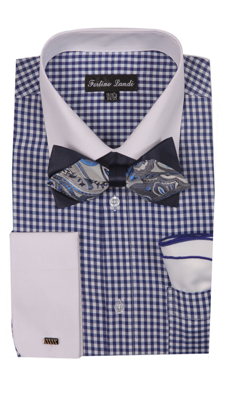 FL628-NA ( Matching Bow Tie, Cuff Link And Hanky Included )
