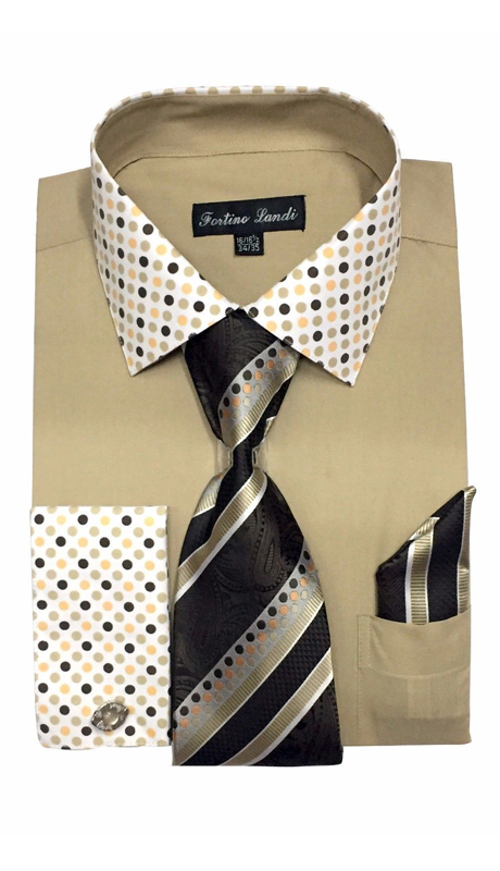 FL630-KH ( Matching Tie, Cuff Link And Hanky Included )