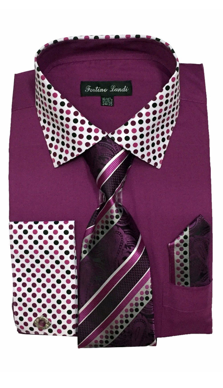 FL630-PU ( Matching Tie, Cuff Link And Hanky Included )