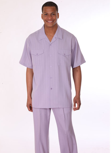 Mens Walking Suit 3558-LA ( 2pc, Short Sleeve, Double Pocket )