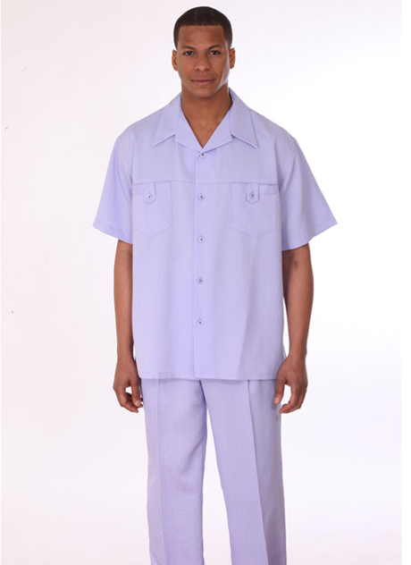 Mens Walking Suit 2950-LA ( 2pc Short Sleeve, Double Pocket )