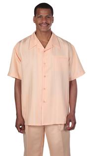Mens Walking Suit 2955-PE ( 2pc Tonal Stripe And Solid Pant )
