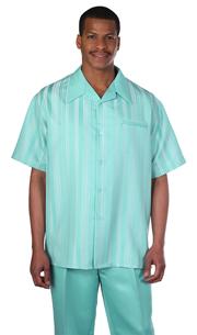 Mens Walking Suit 2955-TU ( 2pc Tonal Stripe And Solid Pant )