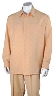 Mens Walking Suit 2762-PE ( 2pc, Solid Pant, Checker Shirt )