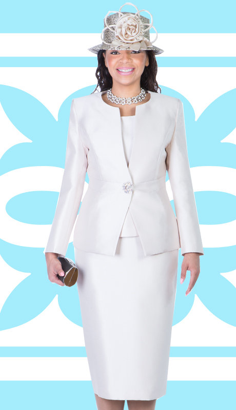 Giovanna 1026-CH-IH ( 3pc Silk Look Mia Ladies Church Suit )