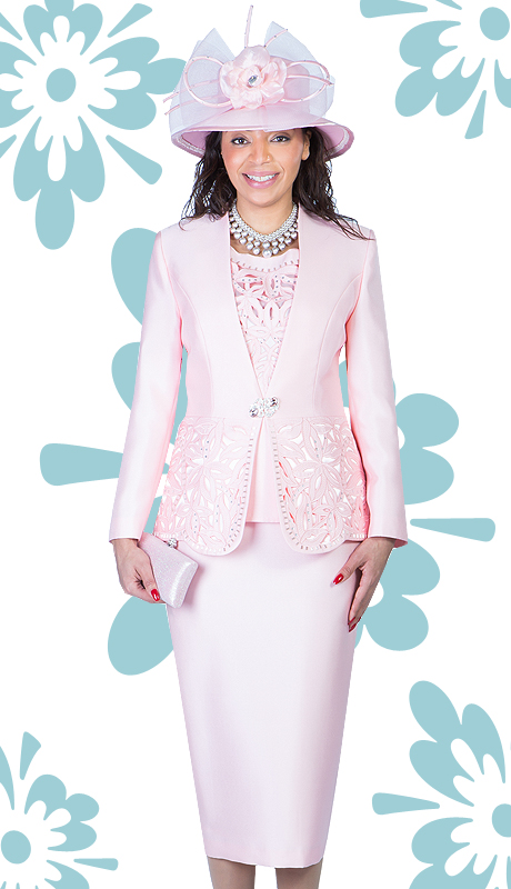 Giovanna 1018-PI-213  ( 3pc Silk Look Mia women Church Suit )