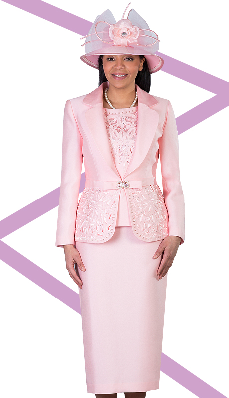 Giovanna 1007-SP  ( 3pc Silk Look Mia Church Suit For Women )