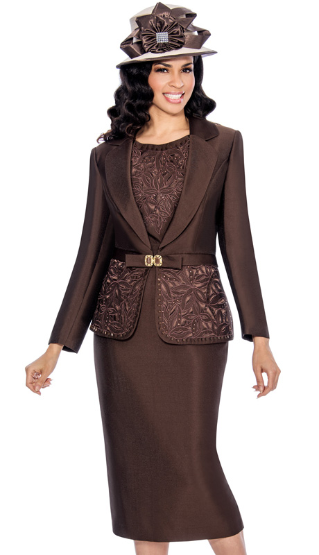 Giovanna 1007-CHO ( 3pc Silk Look Mia Church Suit For Women )