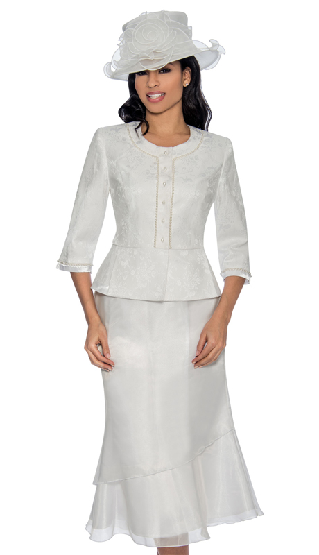 Giovanna 0899-W-220 ( 2 pc Novelty Womens Skirt Suit With Beaded Trim )
